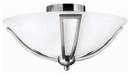 Hinkley Lighting 4660BN Semi Flush 2 Light Bath Bolla Collection traditional-flush-mount-ceiling-lighting