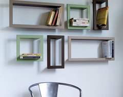 Metal CD, DVD or Bookshelves contemporary-display-and-wall-shelves