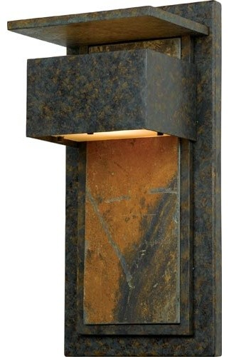 Zephyr Muted Bronze Outdoor Wall Mount contemporary-outdoor-wall-lights-and-sconces