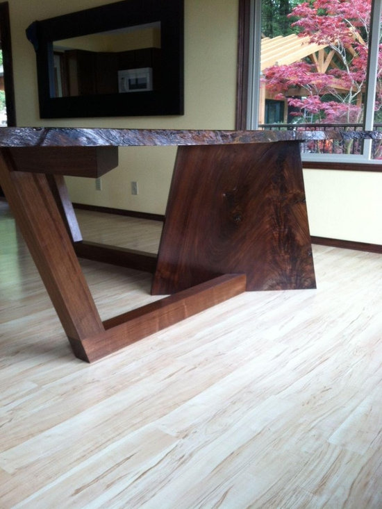 Natural Walnut Slab Dining Table Base -