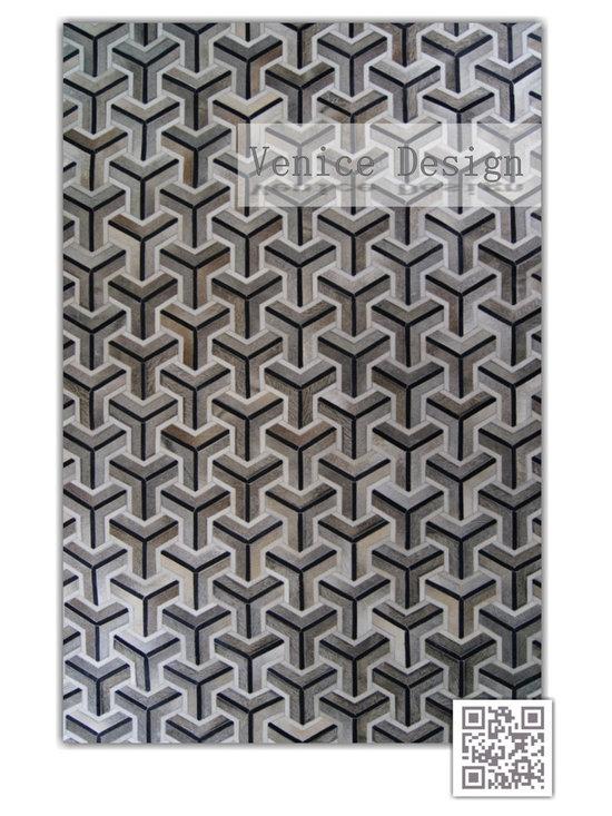 | Luxury Hide Patchwork Rugs ~ Venice Design - Kaymanta