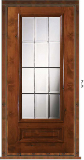 Prehung patio single door 80 wood alder patio 1 panel 3 4 for Single glass patio door