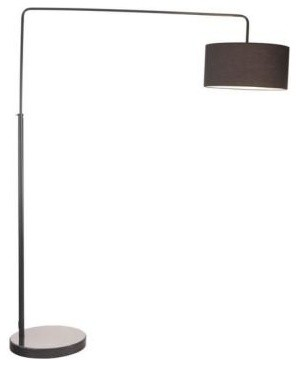 Black Floor Lamp: Vapor 82.7 in. Black Floor Lamp 50075 contemporary-floor-lamps