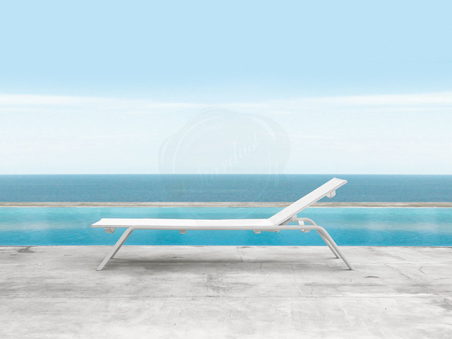 Modern Reclining Outdoor Chaise Lounge Chair - Stackable - Gandia Blasco Stack contemporary-outdoor-chaise-lounges