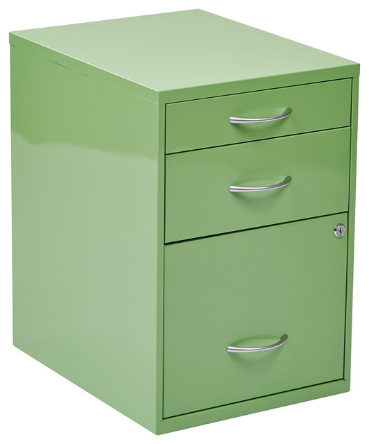 """22"""" Pencil Box Storage File Cabinet, Green - Contemporary - Filing Cabinets - by eFurniture Mart"""