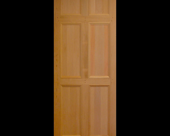 Kestrel Shutters & Doors - Closet Doors - This variation of the traditional 6 panel door features flat panels with an over-sized Federal style trim.  These interior doors are made from solid wood using pegged, mortise and tenon joinery.