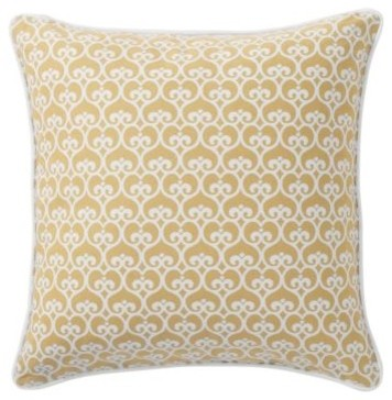 Maize Spade Throw Pillow traditional pillows