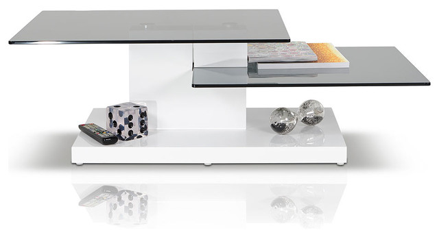 Dove Contemporary White High Gloss Coffee Table modern-furniture