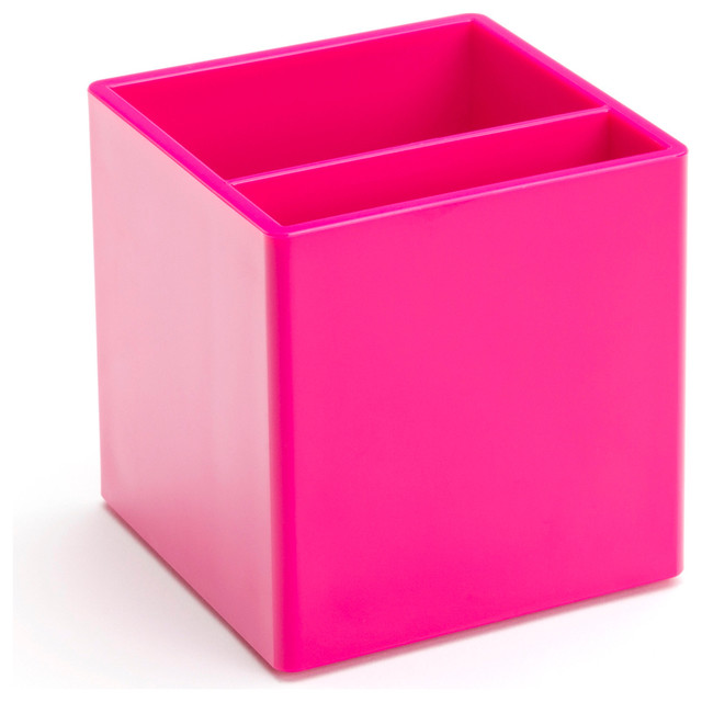 Pen Cup Pink Modern Desk Accessories by Poppin