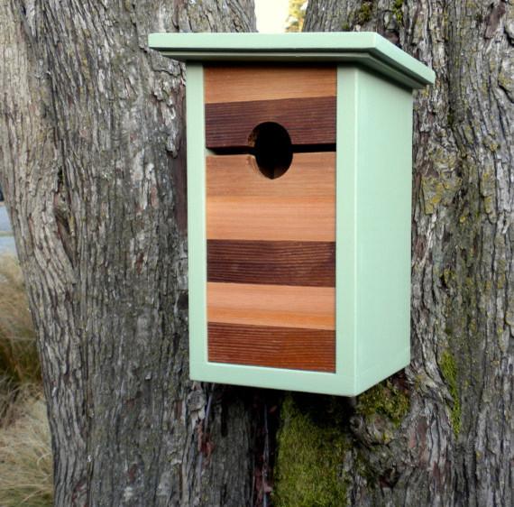 Modern Craftsman Birdhouse Mind The Gap By Twig Amp Timber