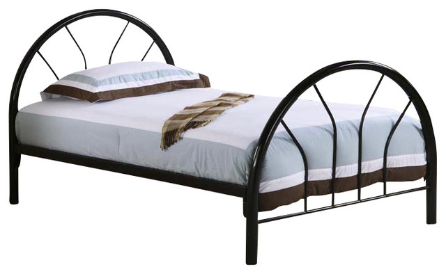 Black Metal Twin Bed Frame Only Traditional Panel Beds