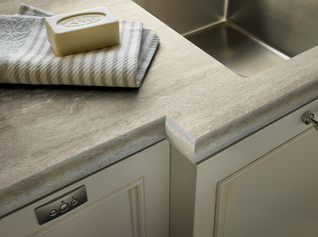 3458 Travertine Silver 180fx® with Ogee IdealEdge™ - Kitchen - cincinnati - by Formica Group