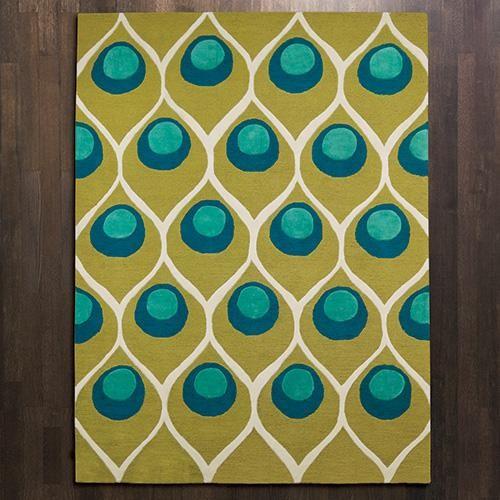 Global Views Peacock Rug eclectic-rugs