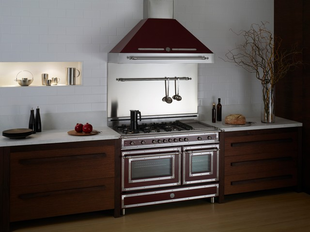 "Heritage Series Burgundy 48"" Range traditional-gas-ranges-and-electric-ranges"