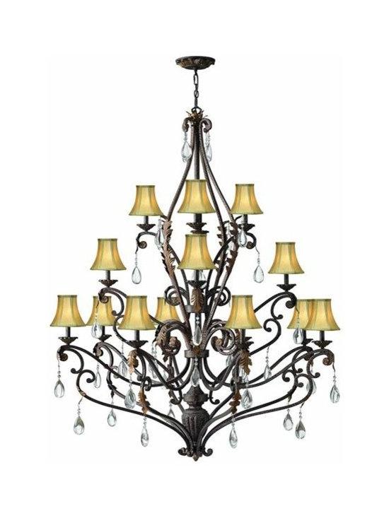 Hinkley Lighting 4899SU 3 Tier 16 Light Chandelier Veranda Collection -