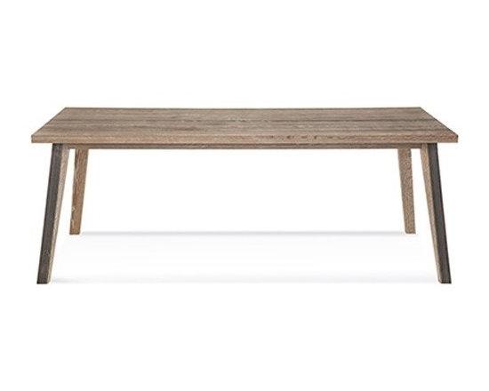Saloom Furniture - Saloom Furniture | Dartmouth Rectangular Extension Oak Dining Table - Design by Peter Francis.