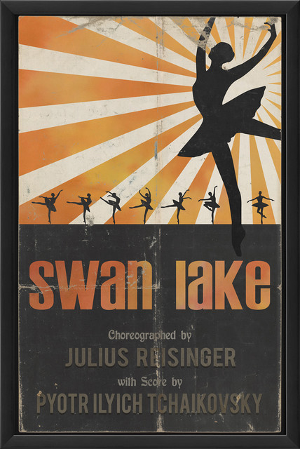 'Swan Lake' Print contemporary-prints-and-posters