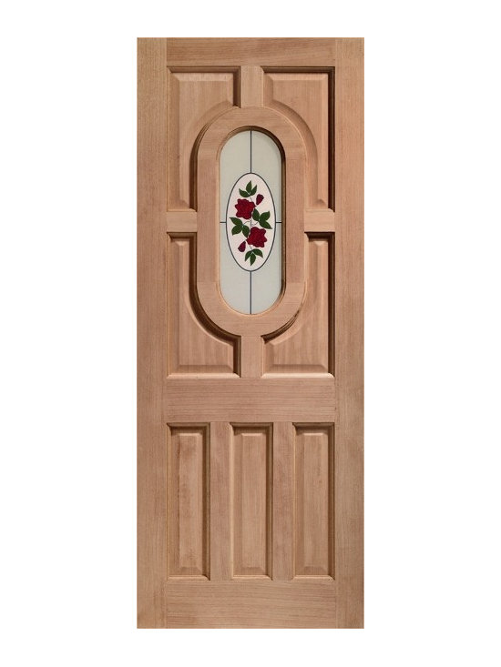 Doors by ABL Doors - Every home deserves to have flowers around it. With this Hardwood Acacia style door from ABL Doors and Windows, your home can always have a permanent rose to great you thanks to the lovingly detailed door art.