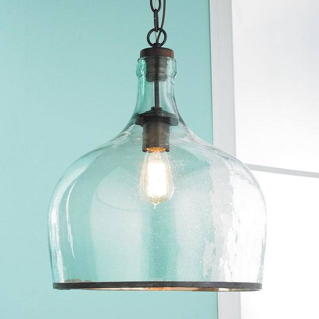 Large Glass Cloche Pendant
