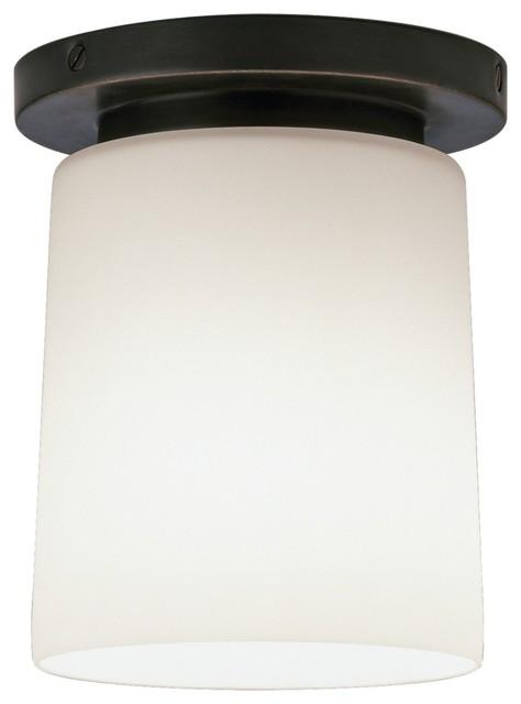 "Contemporary Nina Collection Bronze 6"" Wide Flushmount Ceiling Light contemporary-ceiling-lighting"
