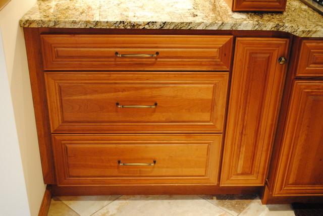 HomeCrest Cambridge Cherry Autumn mediterranean-kitchen-cabinetry