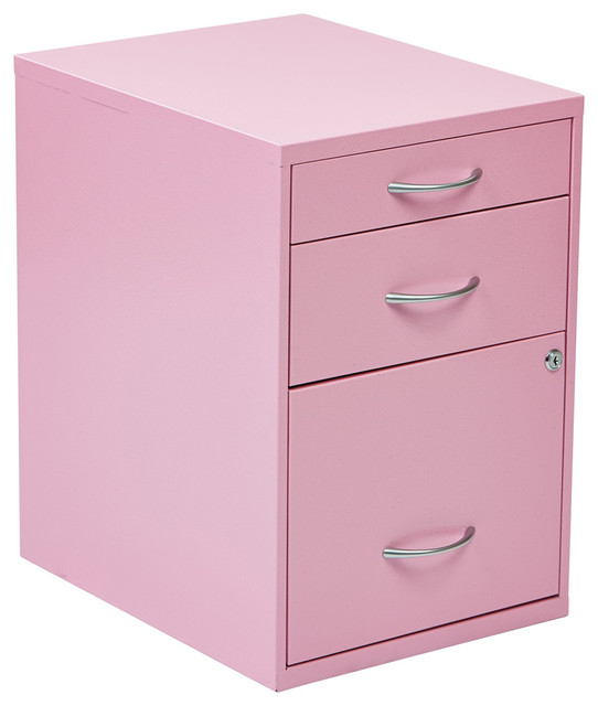 "22"" Pencil Box Storage File Cabinet, Pink - Contemporary - Filing Cabinets - by eFurniture Mart"