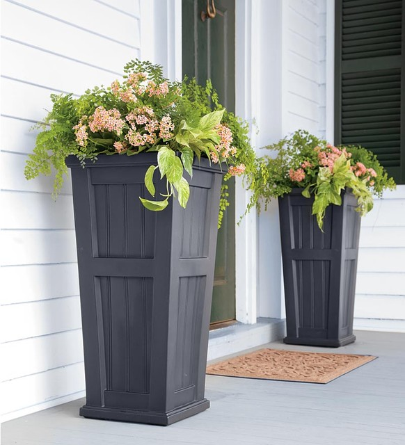 Lexington Tall Self Watering Planter Traditional