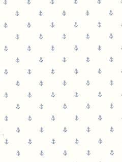 Blue Anchors Wallpaper traditional-wallpaper