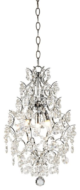 "Crystal Crystal 12 1/2"" Wide Pendant Chandelier contemporary-chandeliers"
