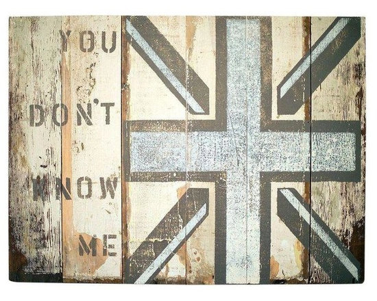 Pre-owned Original Reclaimed Wood Art - You Don't Know Jack - Add rustic charm to your space with this original art piece by Huntington Beach reclaimed wood artist, Heather Roth. The art is done in acrylic on reclaimed wood from an old barn. The art is signed and dated.