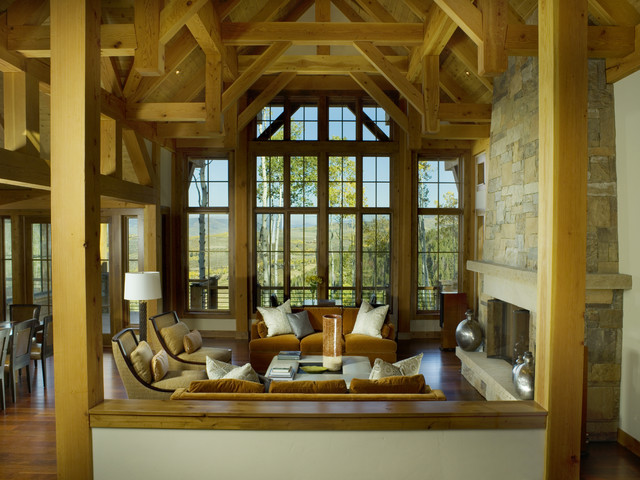 MOUNTAIN RESIDENCE LIVING ROOM contemporary-living-room