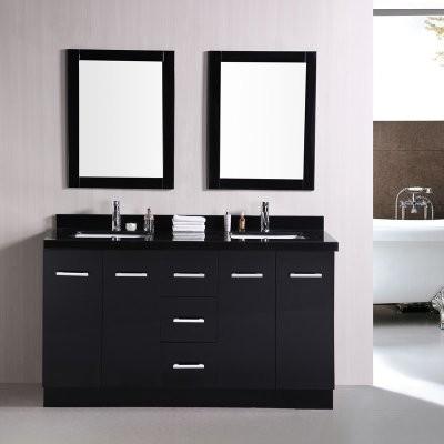 Design Element Cosmo 60-in. Double Bathroom Vanity Set modern-bathroom-vanities-and-sink-consoles