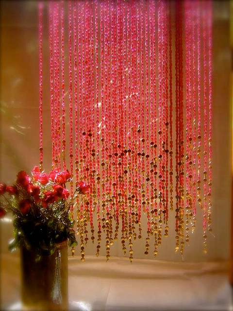 Selection of glass bead curtains screens traditional curtains - Glass beaded door curtains ...