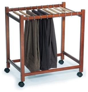 Woodlore Compact Pant Trolley modern-bar-carts
