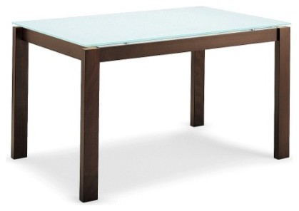 Calligaris Baron Extension Table with Wood Base modern-dining-tables