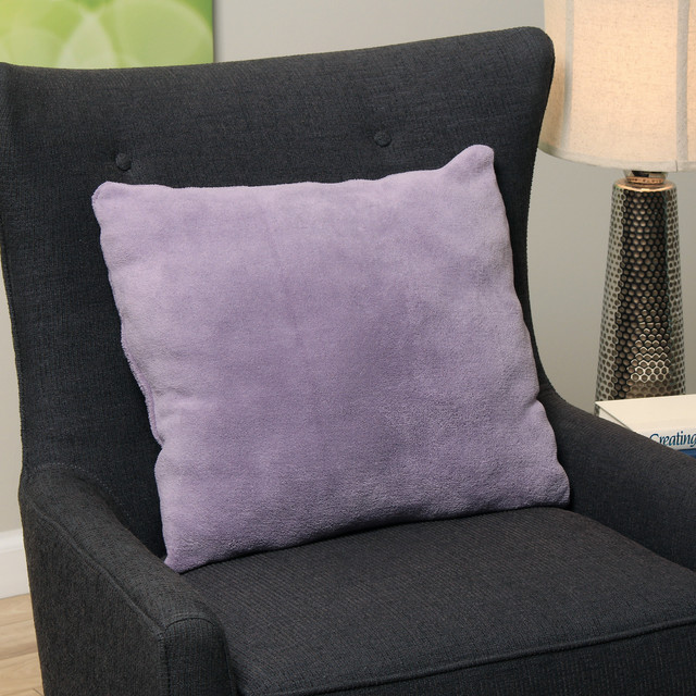 Plush Light Purple Decorative Throw Pillow - Contemporary - Decorative Pillows - by Overstock.com