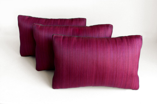 Horsehair Lumbar Pillows contemporary-decorative-pillows