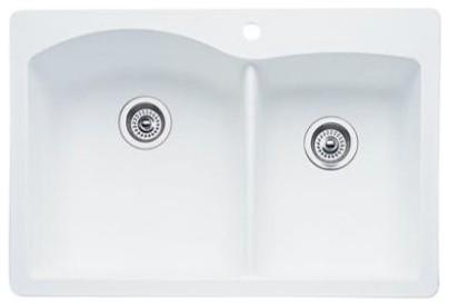 Blanco 440-216 Diamond 1-3/4 Bowl Silgranit II (Di) in White traditional-kitchen-sinks