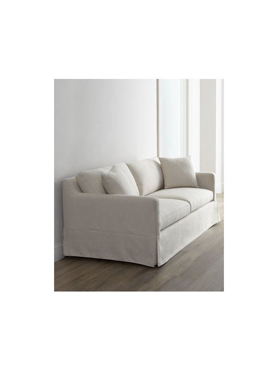 Horchow - Annalise Sofa - Everything about this sofa says relaxed—the plump cushions; the slouchy, slipcover-style upholstery; the tonal decorative pillow. It just invites you to come on over and sit a spell. Frame made of select hardwoods and engineered hardwoods. Polyes...