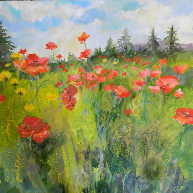"""Poppy Field"" Artwork contemporary-paintings"