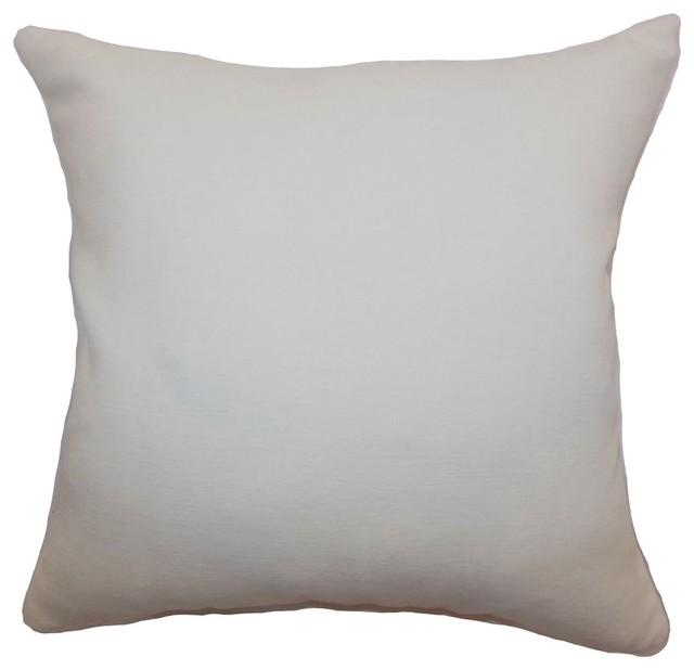 Portia Plain Pillow Creme traditional-pillows