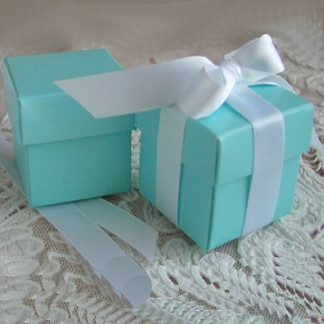 Tiffany Blue 2 Favor Box Modern Home Decor By Party