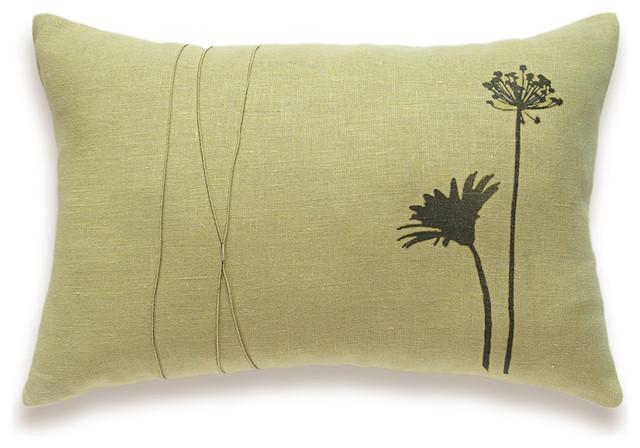Herb Print Decorative Lumbar Pillow Cover 12x18 inch SELAH DESIGN contemporary-decorative-pillows