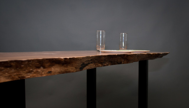 Figured Reclaimed Maple Dining Table Modern Dining  : modern dining tables from houzz.com size 640 x 368 jpeg 27kB