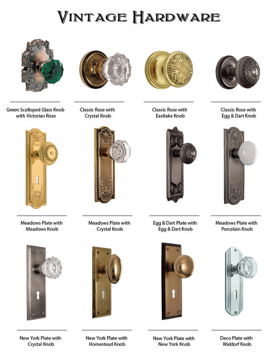 Vintage Hardware - Vintage door plates and knobs may be the ideal look you need for your home.
