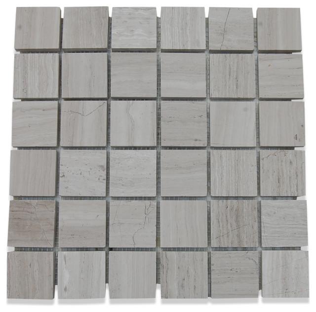 Wooden beige honed 2x2 marble tile asian tile by for Bathroom design 2x2