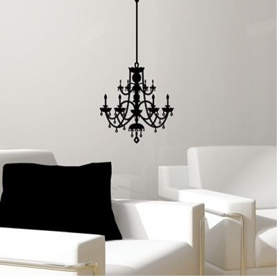 rhinestone chandelier vinyl wall decal eclectic wall
