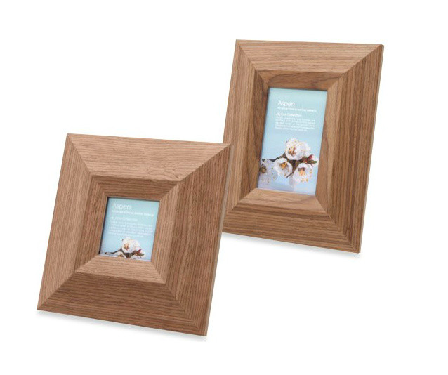 Swing Aspen Mid-Tone Brown Photo Frame traditional-frames
