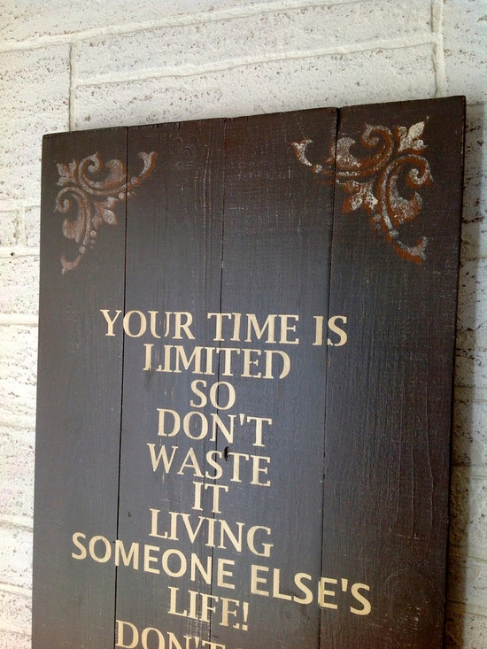 French Country Decor - Inspirational subway wall art in a French Country style. Handmade, handpainted, solid wood sign.The perfect addition to any room! A great reminder to all of us that life is to be lived fully!
