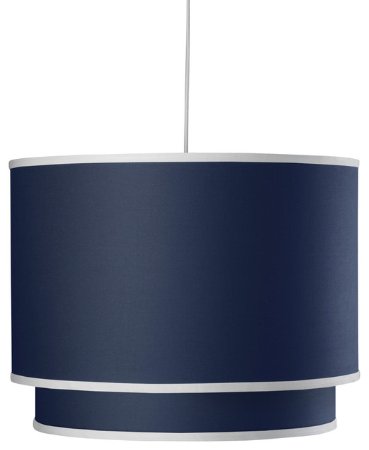 Solid Double Cylinder, Cobalt Blue contemporary-pendant-lighting